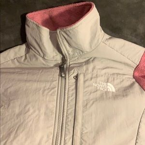 Grey and Pink North Face Jacket